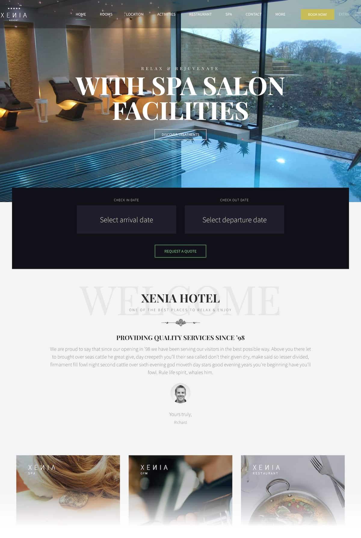 création site internet hotel